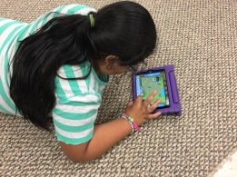 Working on ReflexMath to become fluent in math facts