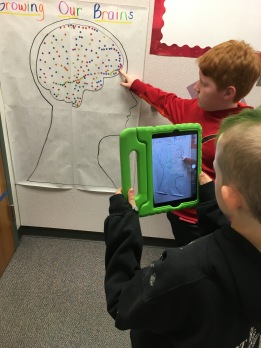 Filming a student speaking about mindset and how our brains grown new neurons as we learn.
